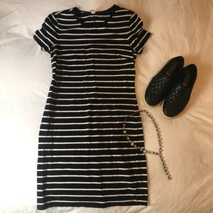 Old Navy Dresses - Old Navy Black and White Striped T Shirt Dress